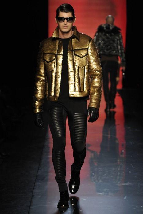 Jean Paul Gaultier. Gold metallic jacket.