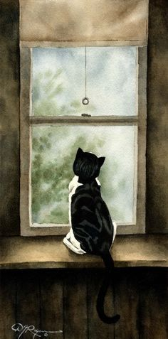 By D J at k9artgallery, watercolor ✿⊱╮