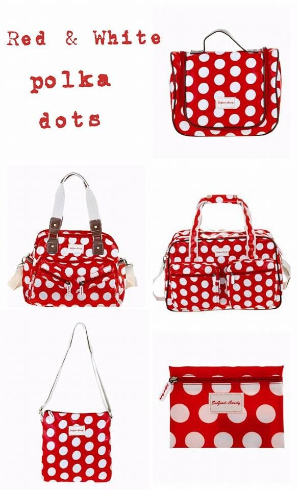 Love these Beautiful Red & White Polka dot bags!