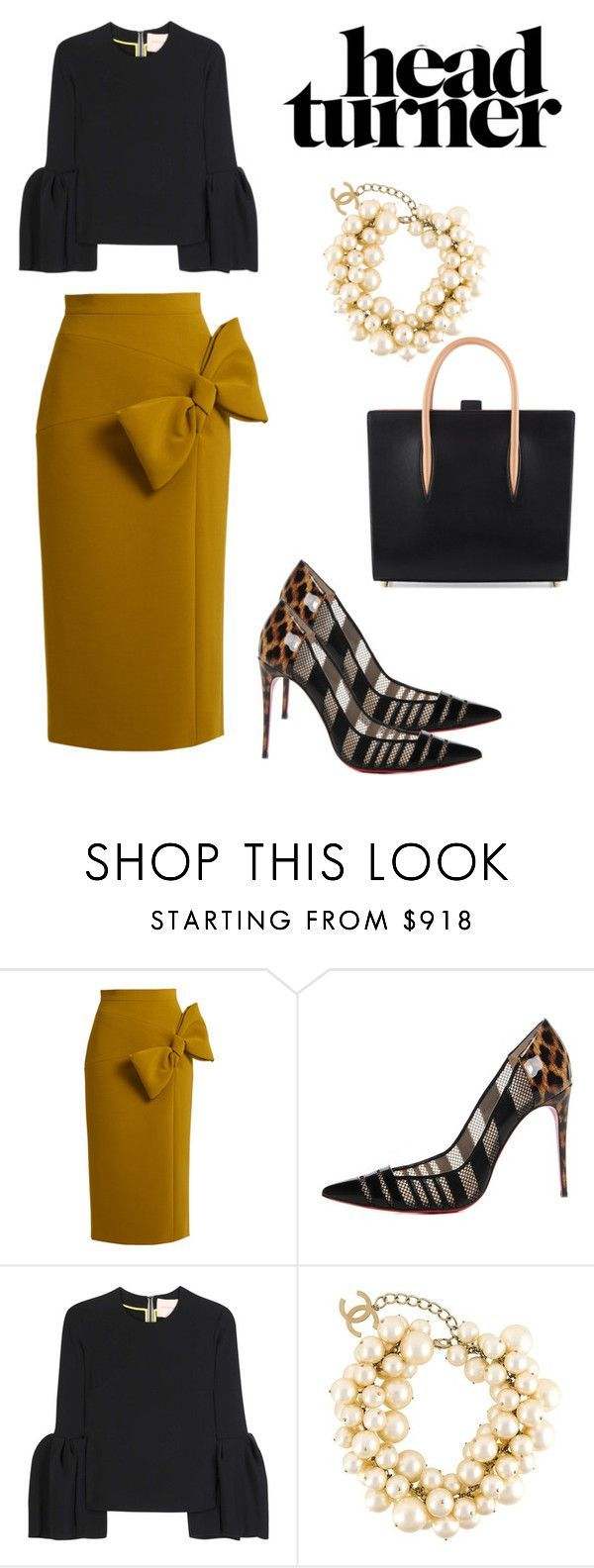 """""""Here She Comes"""" by culturestylewithvel on Polyvore featuring Roksanda, Christian Louboutin and Chanel"""