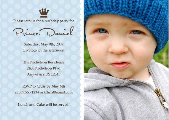 80 best 1st birthday images – Prince Birthday Invitation