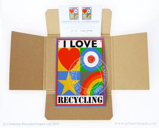"""""""I LOVE RECYCLING"""" by Sir Peter Blake"""