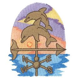 Dolphins Weather Vane embroidery design