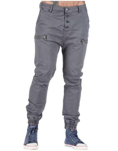ΑΝΔΡΙΚΑ ΡΟΥΧΑ :: Παντελόνια :: Παντελόνι Drop Crotch 4 Buttons Grey - OEM