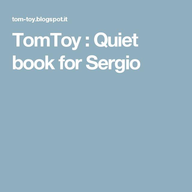 TomToy : Quiet book for Sergio