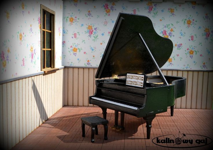 grand piano forte miniature 1:12 scale dollhouse #Unbranded