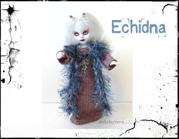 Living Dead Doll Goth Clothes  OOAK 'ECHIDNA' Gown  by DOLLS4EMMA