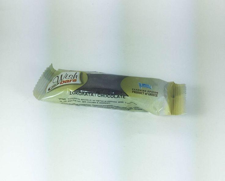 ''WISH'' Bars  Chocolate   (without sugar)