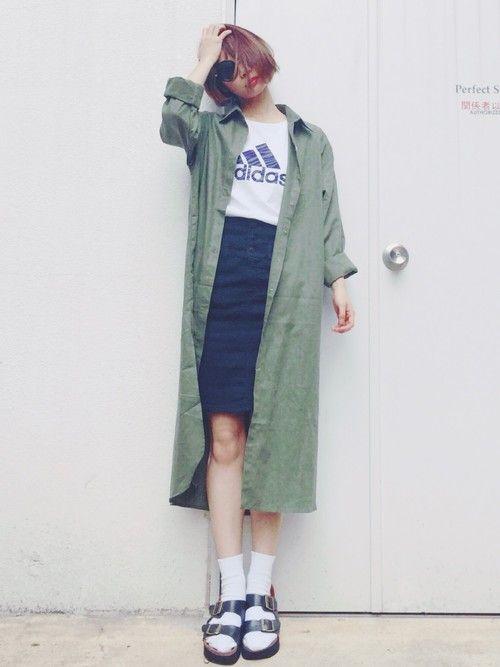 斎藤有沙|GUのデニムスカートを使ったコーディネート - WEAR