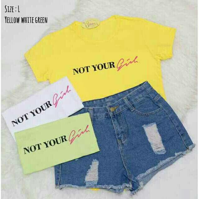 Saya menjual Kaos wanita / not your girl / kaos lengan pendek / size Allsize seharga Rp40.000. Dapatkan produk ini hanya di Shopee! https://shopee.co.id/ssfashionkaos/660879754 #ShopeeID
