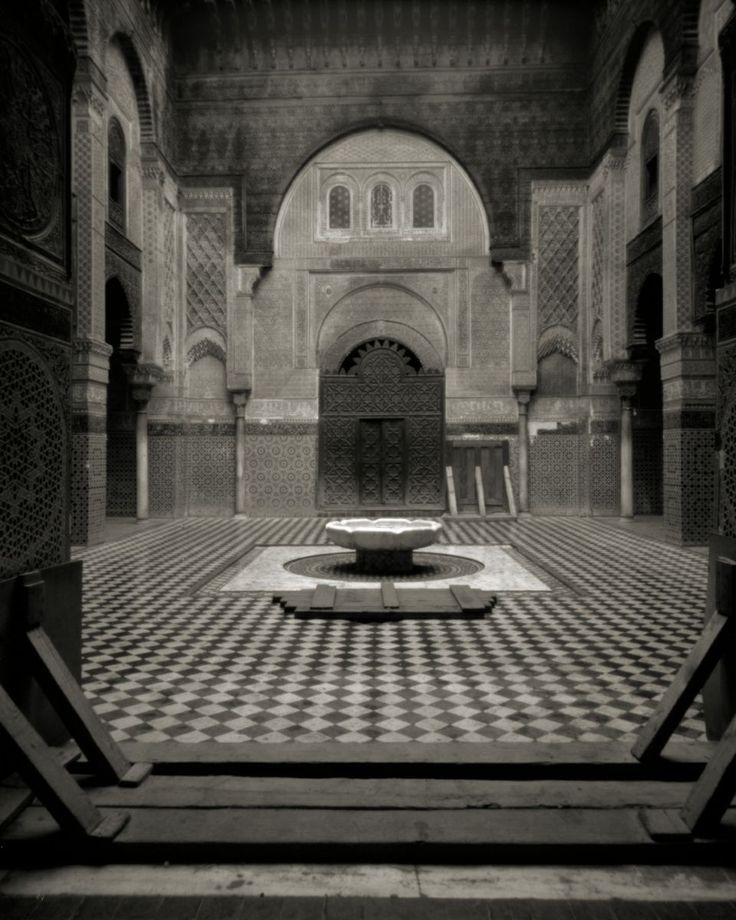 Attarine Medersa, Fez, by Katie Cooke, taken with a pinhole camera. ©Katie Cooke