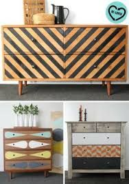 Image result for midcentury painted geometric dresser