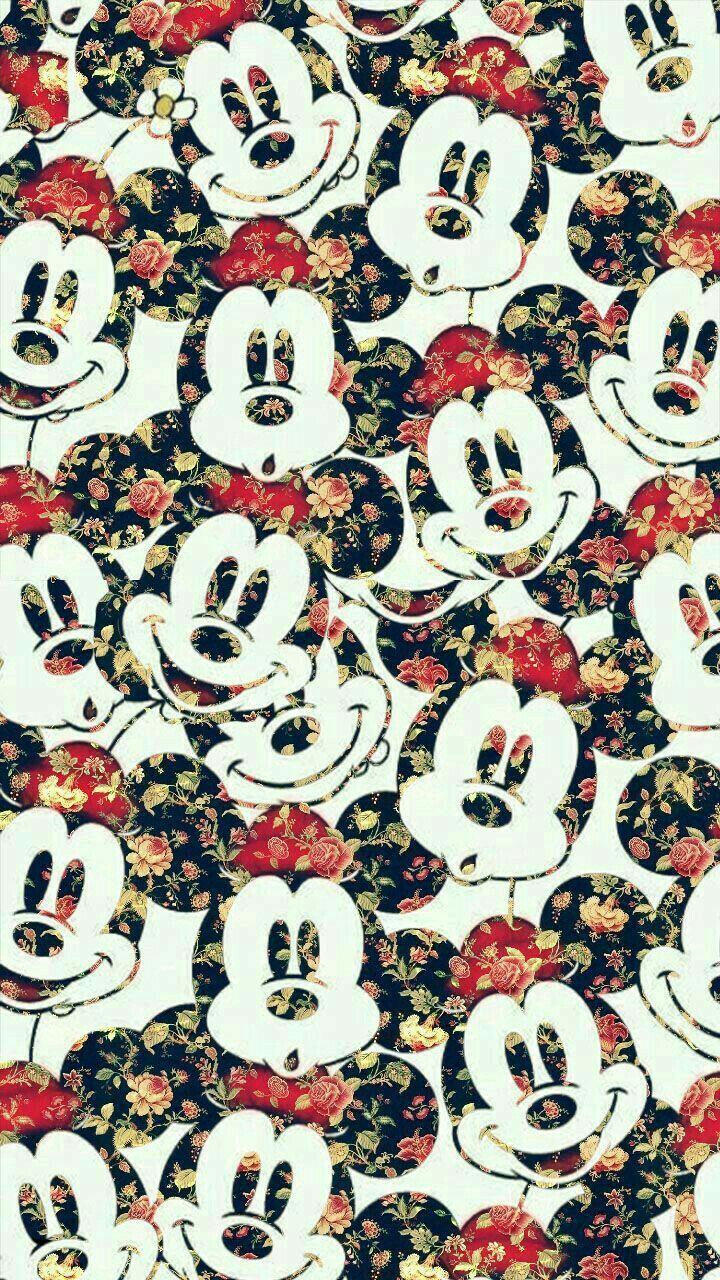 "Pin by 5ø""8` zerø on Patterns Disney wallpaper, Mickey"