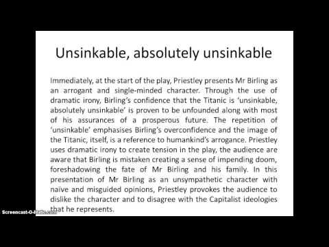 An Inspector Calls Revision: Structuring an answer - YouTube