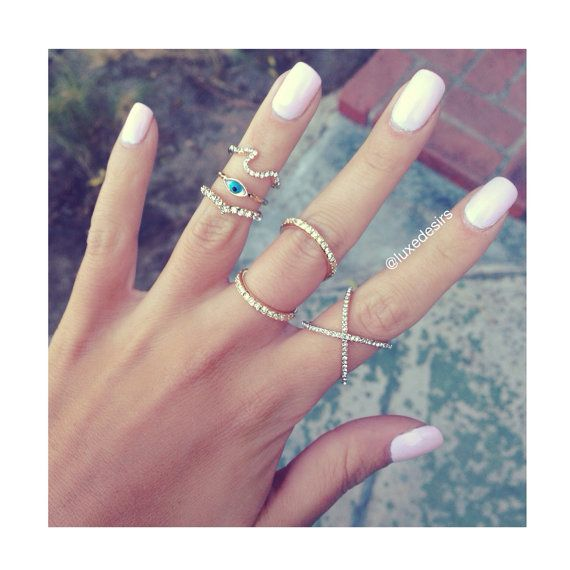 """Wavy Ring  Criss Cross Ring  Crisscross Ring  Midi by LUXEDESIRS, $19.95 - love the """"X"""" ring!!!!"""