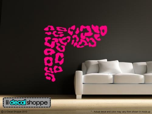 Leopard Print Wall Art Vinyl Decal | lildecalshoppe - Housewares on ArtFire- love the color & 16 best Cheetah Print Wall Decals images on Pinterest | Leopard wall ...