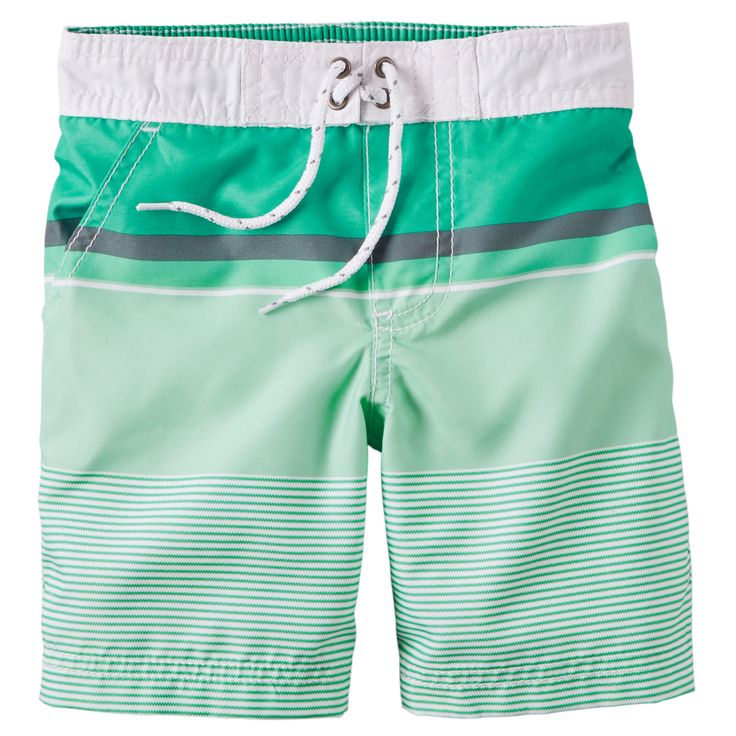 Kid Boy Carter's Striped Swim Trunks | Carters.com