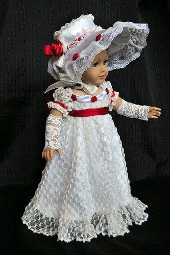 Jane Austen Regency Gown Fits 18 American Girl Doll Caroline Handmade OOAK Lumi | eBay