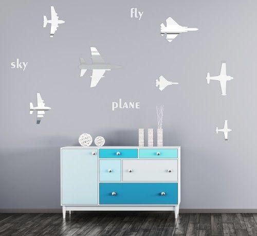 Detské dekorácie na stenu v motíve lietadiel