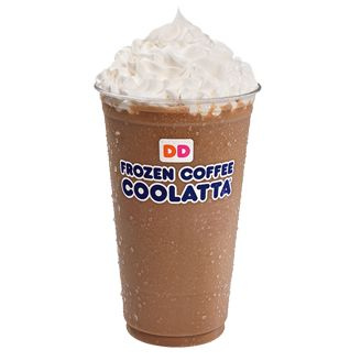 Dunkin donuts French vanilla coffee coolata