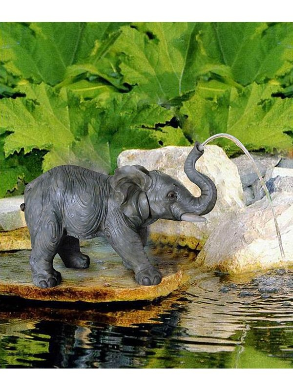 51 best elephant water features fountain and yard for Garden elephant pool