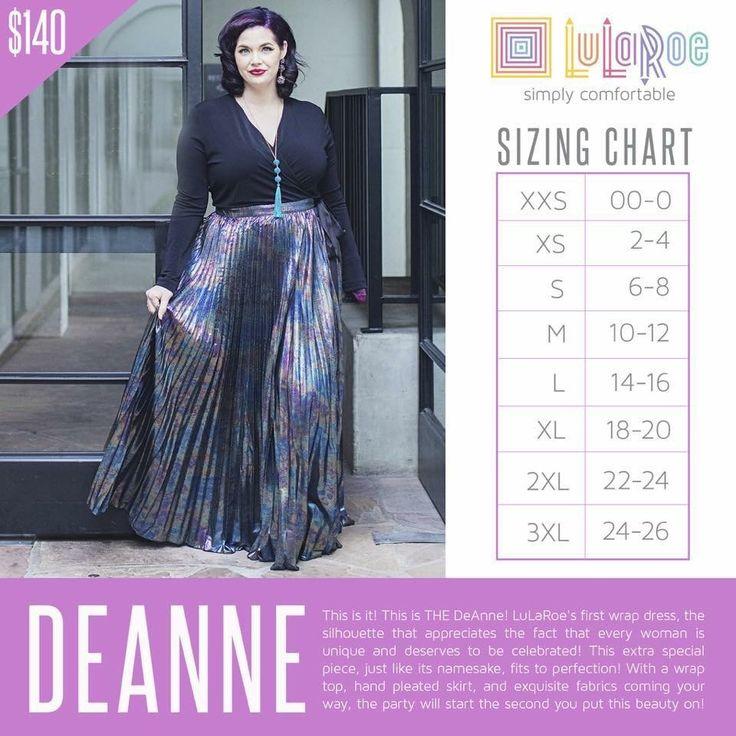 LuLaRoe DeAnne dress sizing chart Clothes Lularoe sizing