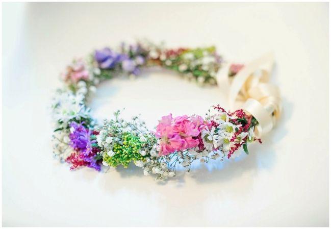 99 sudbury wedding   colourful flower crown } real flowers bridal crown } toronto wedding