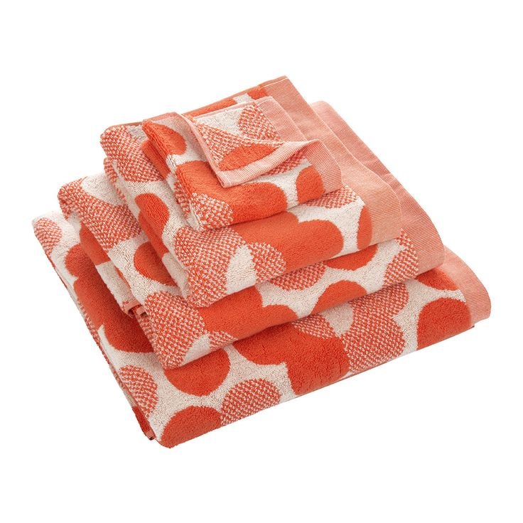 Buy Orla Kiely Sunset Floral Towel - Persimmon - Bath Sheet   Amara