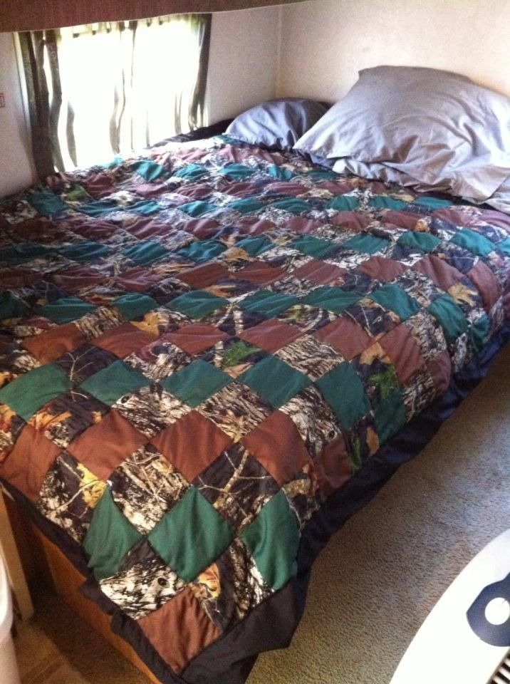 Camo quilt I made for my son