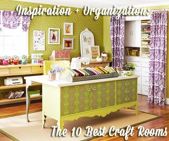 Inspiration + Organization: The 10 Best Craft Rooms