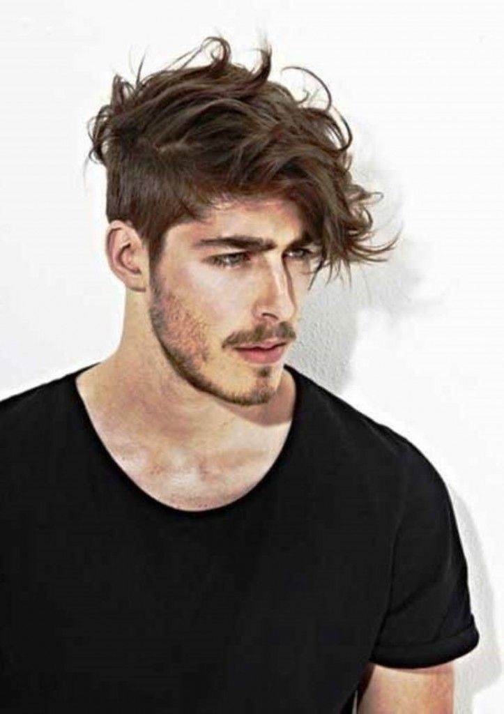 messy layered front and top hairstyle mens haircuts 2014