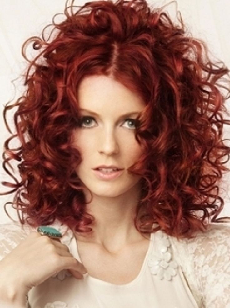 Perfect curly red hair