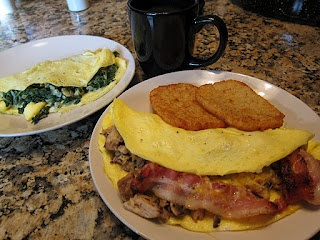 Leftover turkey bacon cheddar omelette | Favorite Recipes | Pinterest