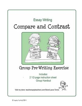 compare and contrast essay prewriting Students need to take notes, develop arguments and craft an effective outline to succeed at the compare-and-contrast essay assignment.