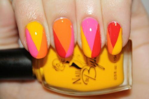 polishyoupretty:    Summ Sorbet nail art by Polish You Pretty! Click the photo to read the full tutorial!