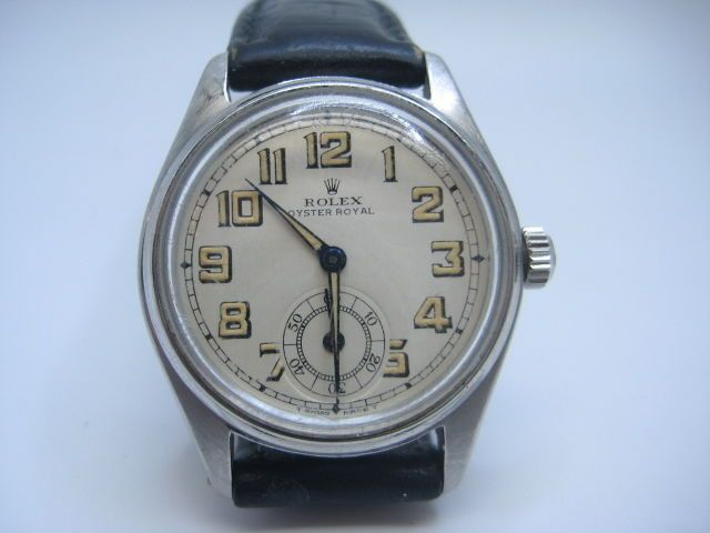 ROLEX MODEL 6044 OYSTER ROYAL YEAR 1951 STAINLESS STEEL USED GENT SWATCH