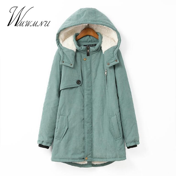 Wmwmnu Women Winter Coat Warm Parkas Women Coat Cashmere Fashion Autumn Winter Jacket Plus Size Hoodies Casual Cotton Outwear #Affiliate