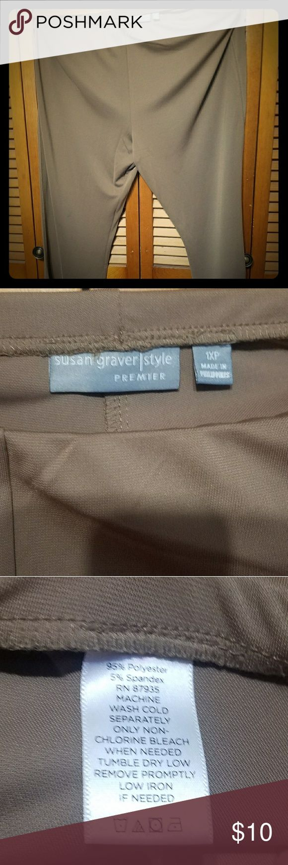 Olive green dress pants Stretchy elastic waistband Very comfortable Pxl Petite but little longer Pants