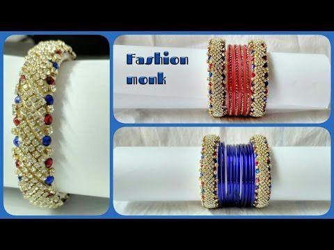 Rich Look Diamond Bangle made out of Silk Thread | DIY Designer Bangle Making Tutorial - YouTube