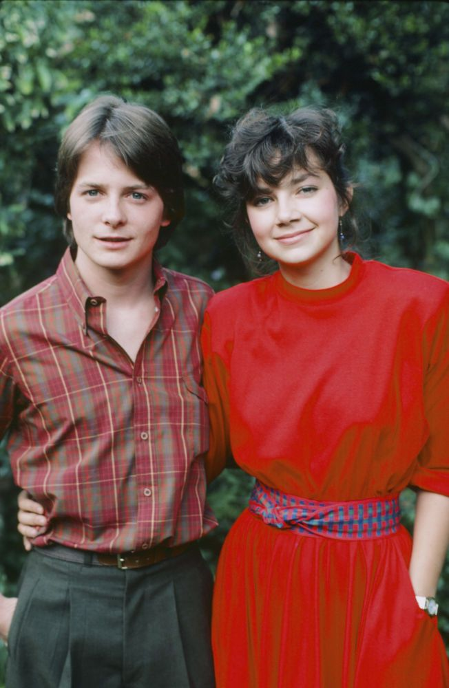 FAMILY TIES -- 'Justine Bateman's 17th Birthday' -- Pictured: (l-r) Michael J. Fox, Justine Bateman -- (Photo by: Ron Tom/NBC/NBCU Photo Bank)