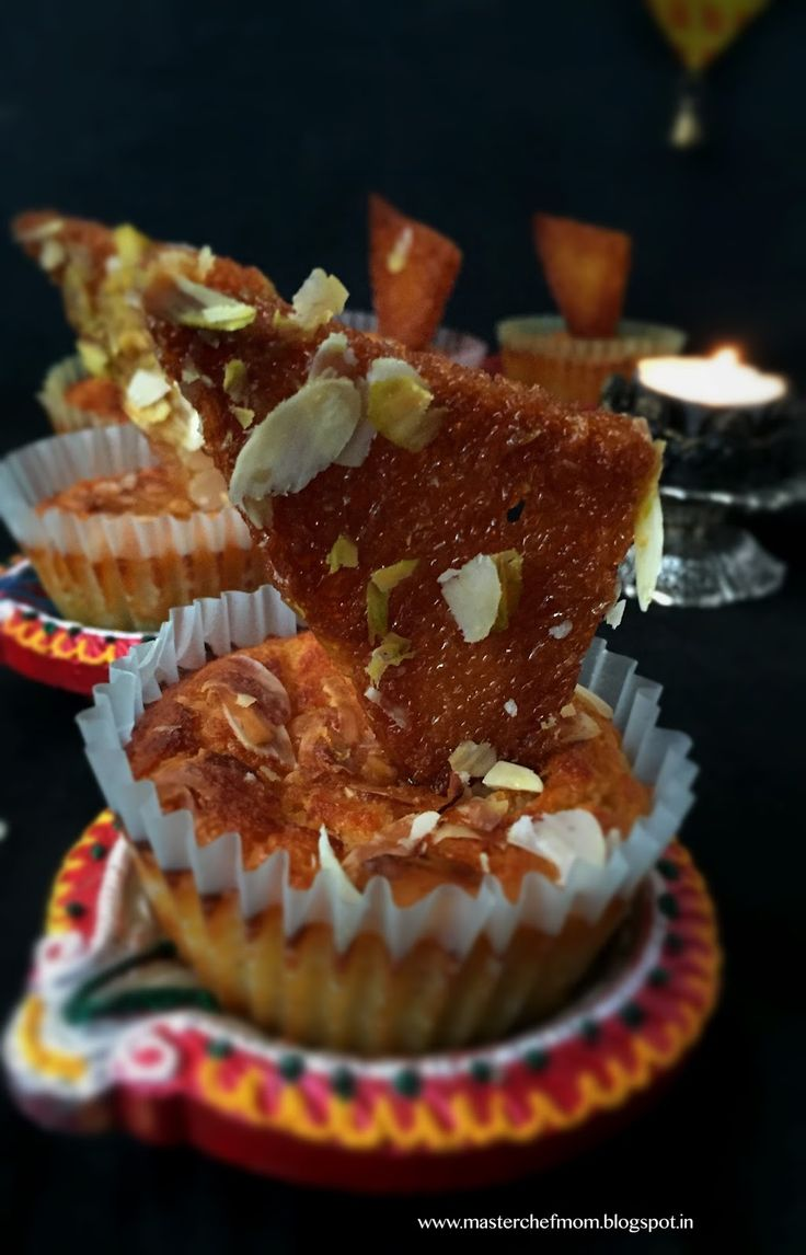 MASTERCHEFMOM: SHAHI CUPCAKE | Special Diwali 2015 Recipe | Fusion Dessert | Stepwise Pictures | How to make Shahi Cupcakes