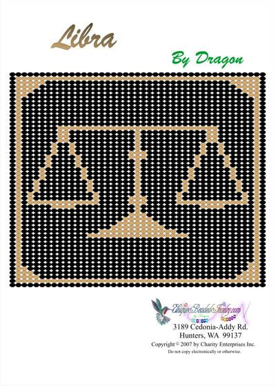 Free Bead Patterns, Zodiac Libra Pattern by Unique Beaded Jewelry