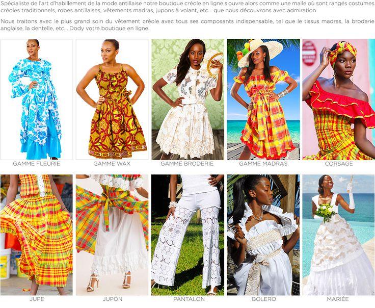 Vetement antillais, vente tenue créole en 2019