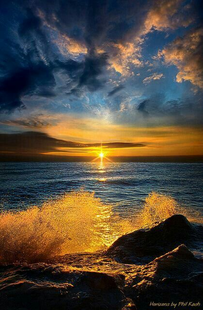 Golden and blue shore
