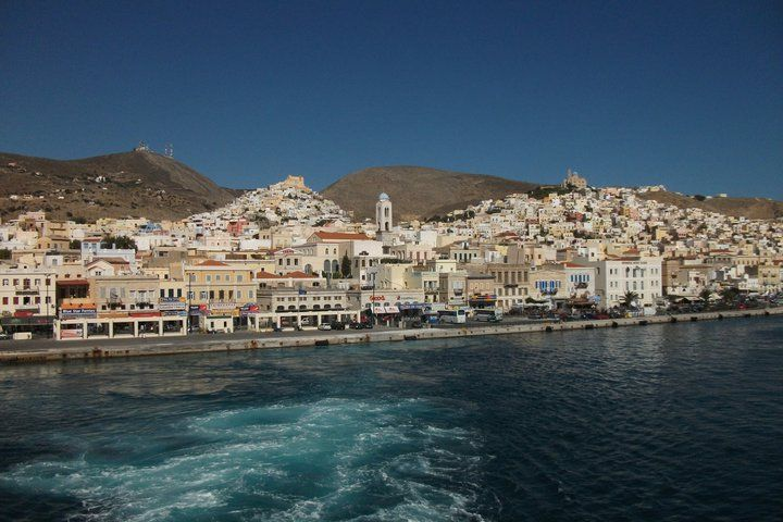 Leaving Syros ...