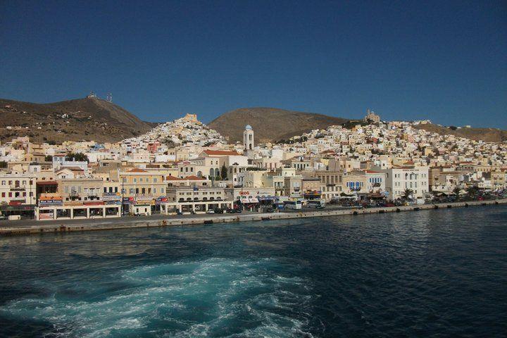 Leaving Syros ...