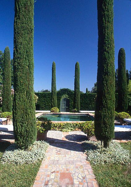 The Portuguese Garden is a formal fordiscrete  relaxation created around a cooling pool.