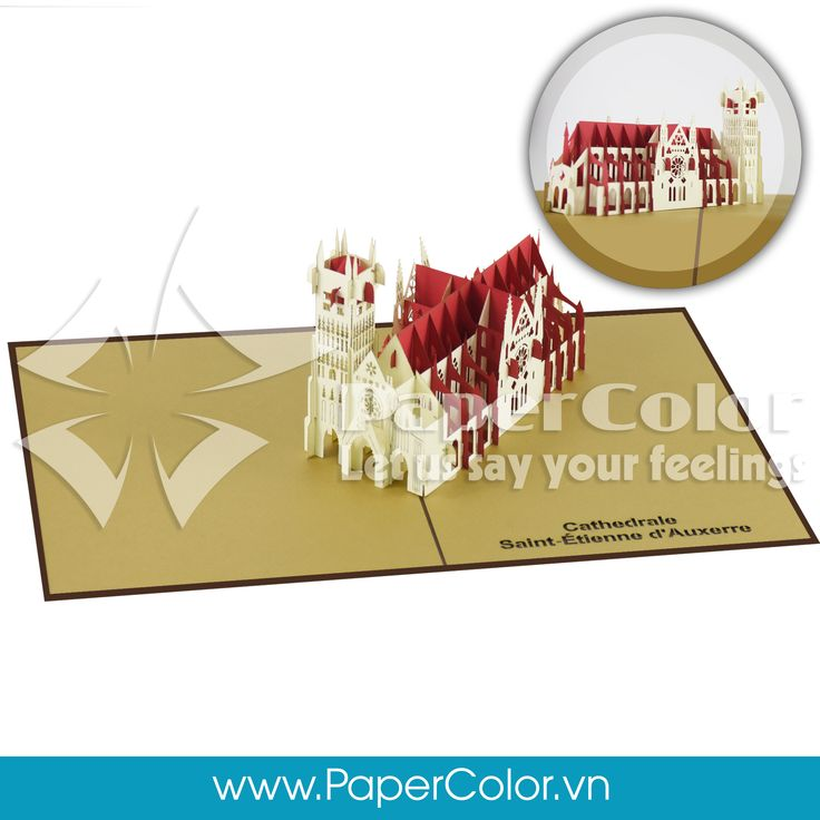 Cathédrale Saint-Etienne d'Auxerre Give your love's one our 3D Pop up card when a normal card is not enough to express your heart. Let us say your feeling ^^ =>>>> Contact me: Email: yhuynh@papercolor.net Whatsapp: +84 94 222 9707  #popupcard, #3dcard, #wholesale3dcard, #cheappopupcard, #beautiful3Dcard, #lovely3Dpopupcard, #highquality3dcard, #landmarkpopupcard, architecture3dcard,