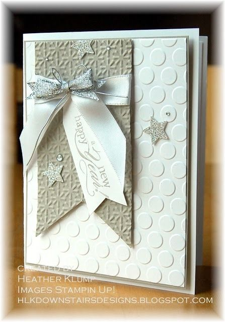 Stampin' Up! Card by Heathr Klump at Downstairs Designs: Happy New Year