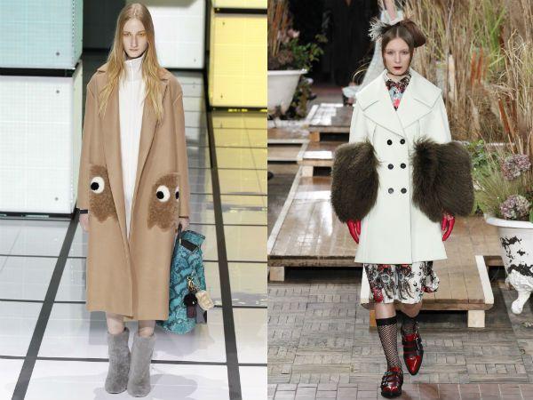 Модные пальто осень-зима 2016-2017: меховые воротники, горжетки, рукава